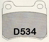 AXXIS/PBR DELUXE BRAKE PAD SET