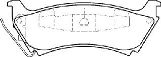 AXXIS/PBR DELUXE REAR BRAKE PAD SET