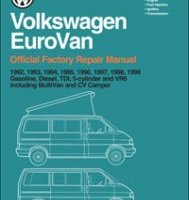 BENTLEY REPAIR MANUAL VOLKSWAGEN EUROVAN 1992-1999