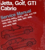 BENTLEY REPAIR MANUAL VOLKSWAGEN GOLF III, JETTA III and CABRIO,