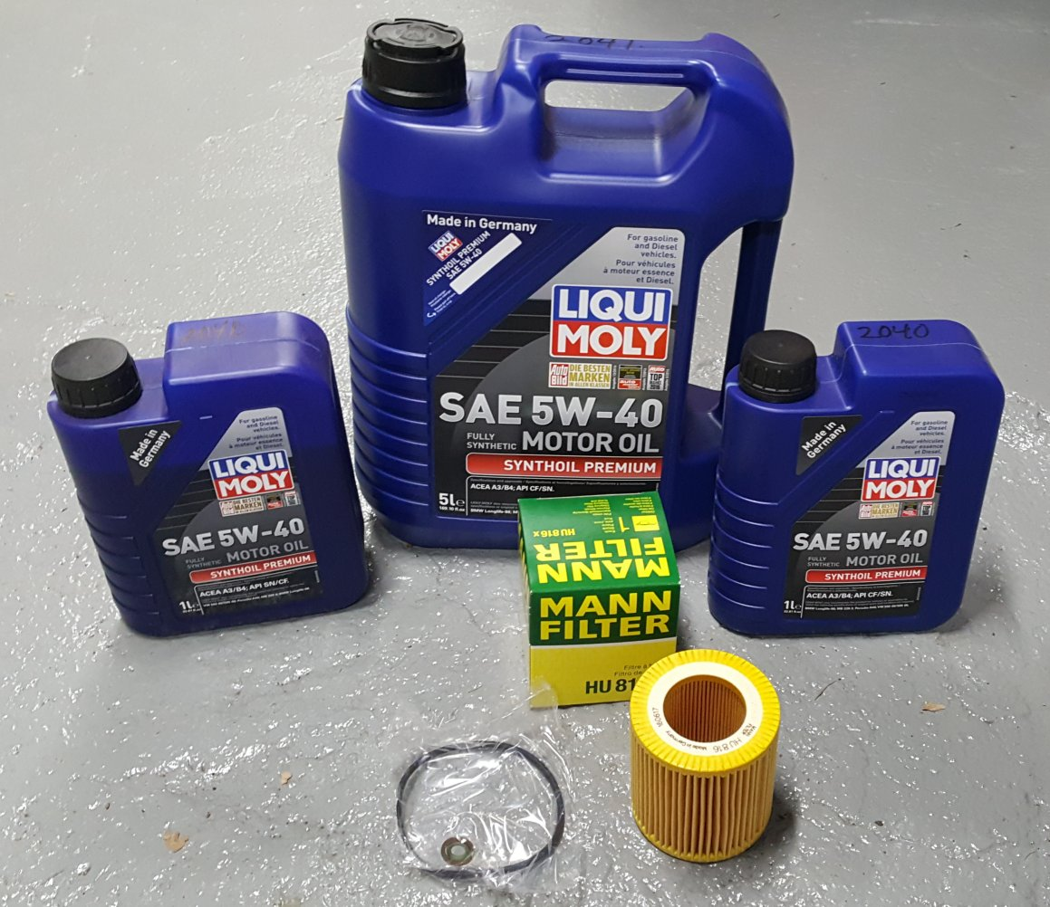 Liquimoly 5w 40 oil change kit bmw x5 2007 2013 3 0l engine for Bmw x5 motor oil