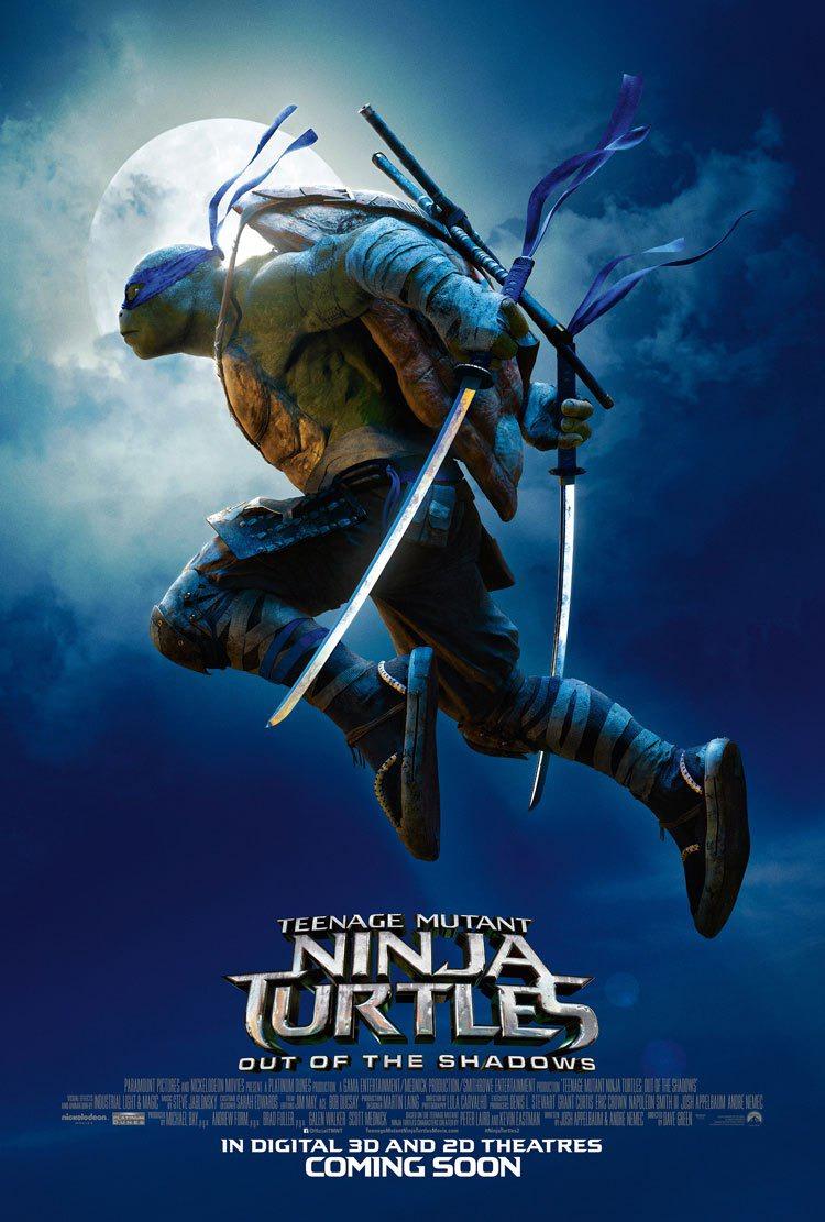 Teenage Mutant Ninja Turtles 2 Sub Indo : teenage, mutant, ninja, turtles, Teenage, Mutant, Ninja, Turtles:, Shadows, Movie, Poster, Awards