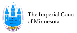 Imperial Court of Minnesota Logo and Wordmark in Black