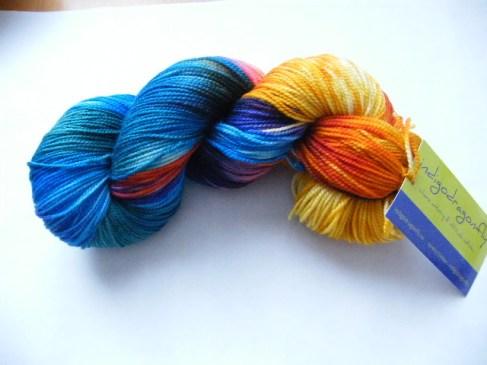 Indigodragonfly Beige rainbow Merino Sock