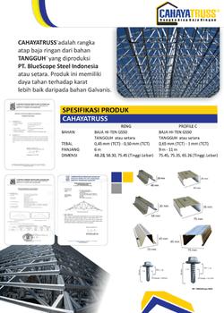 spesifikasi baja ringan untuk atap retail produk rangka