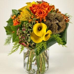 Bouquet con rose arancio