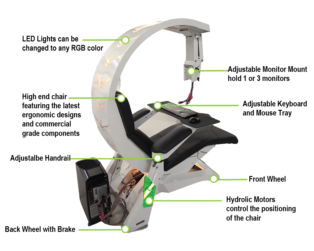 imperator works gaming chair doll high imperatorworks iw c4 reclining workstation game takes simplicity design its shaped like g it integrating the functions with stronger stability and lighter