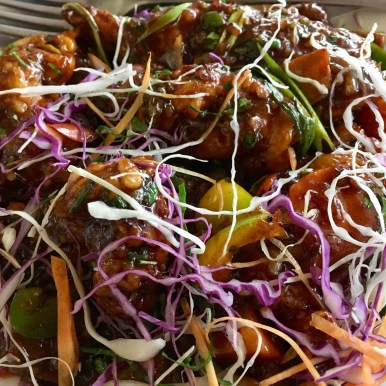Tiger Prawns in Singapore Chilly Sauce