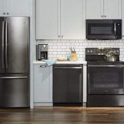 Black Kitchen Appliances 3 Piece Rug Set Give Your The Wow Factor With Newest Ge Stainless Steel