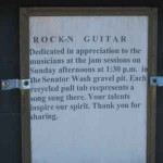 Rock 'n Guitar Plaque