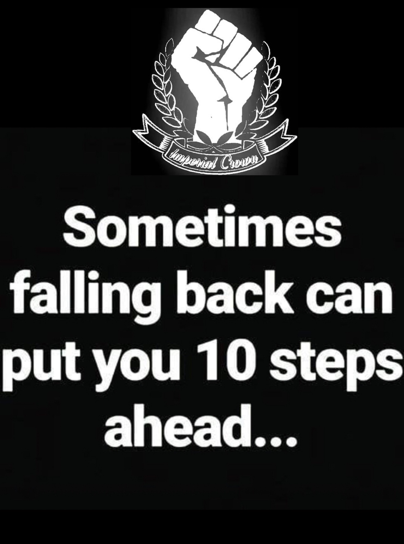 sometimes falling back can put you 10 steps ahead