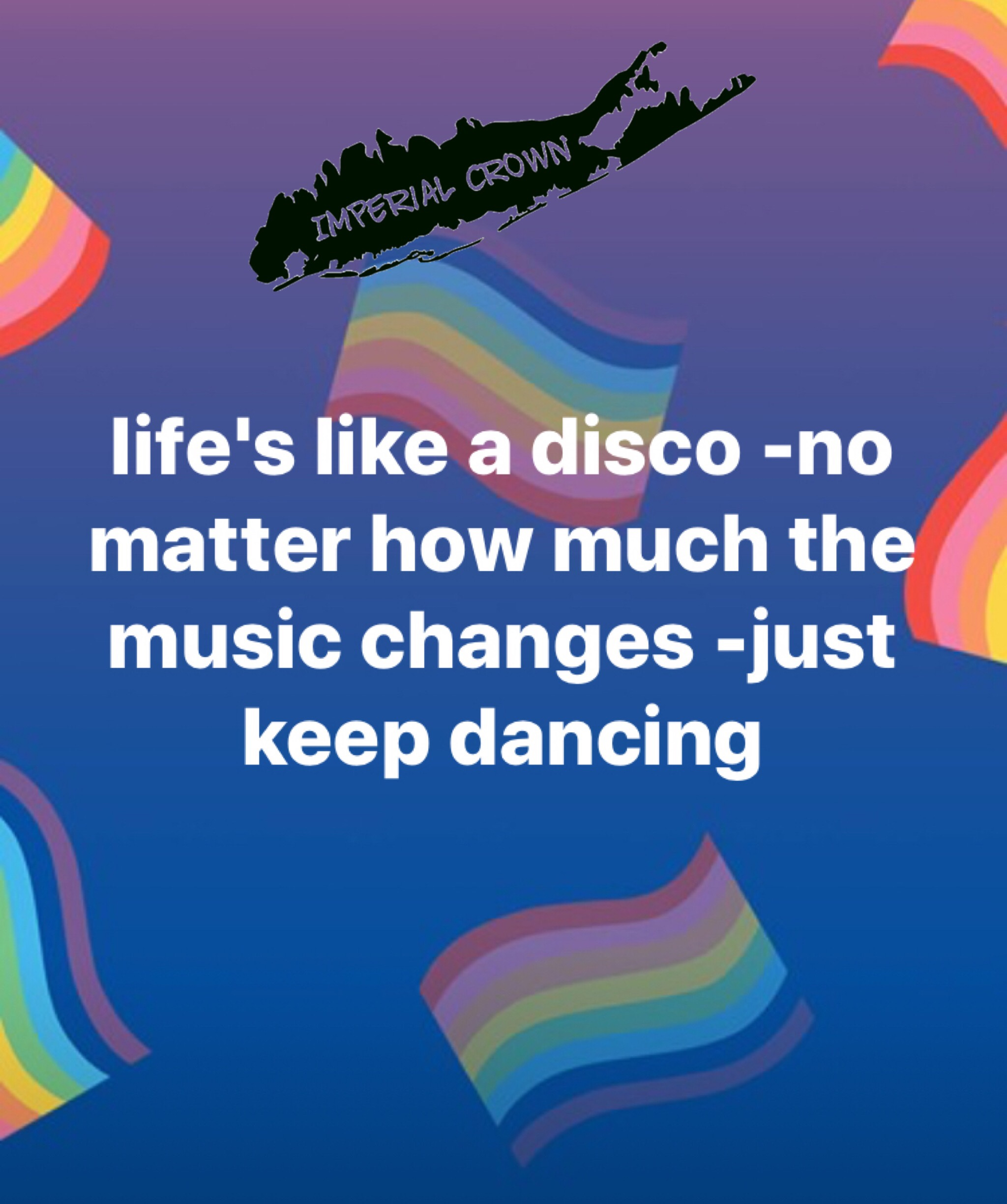 Life's like a disco -no matter how much the music changes….