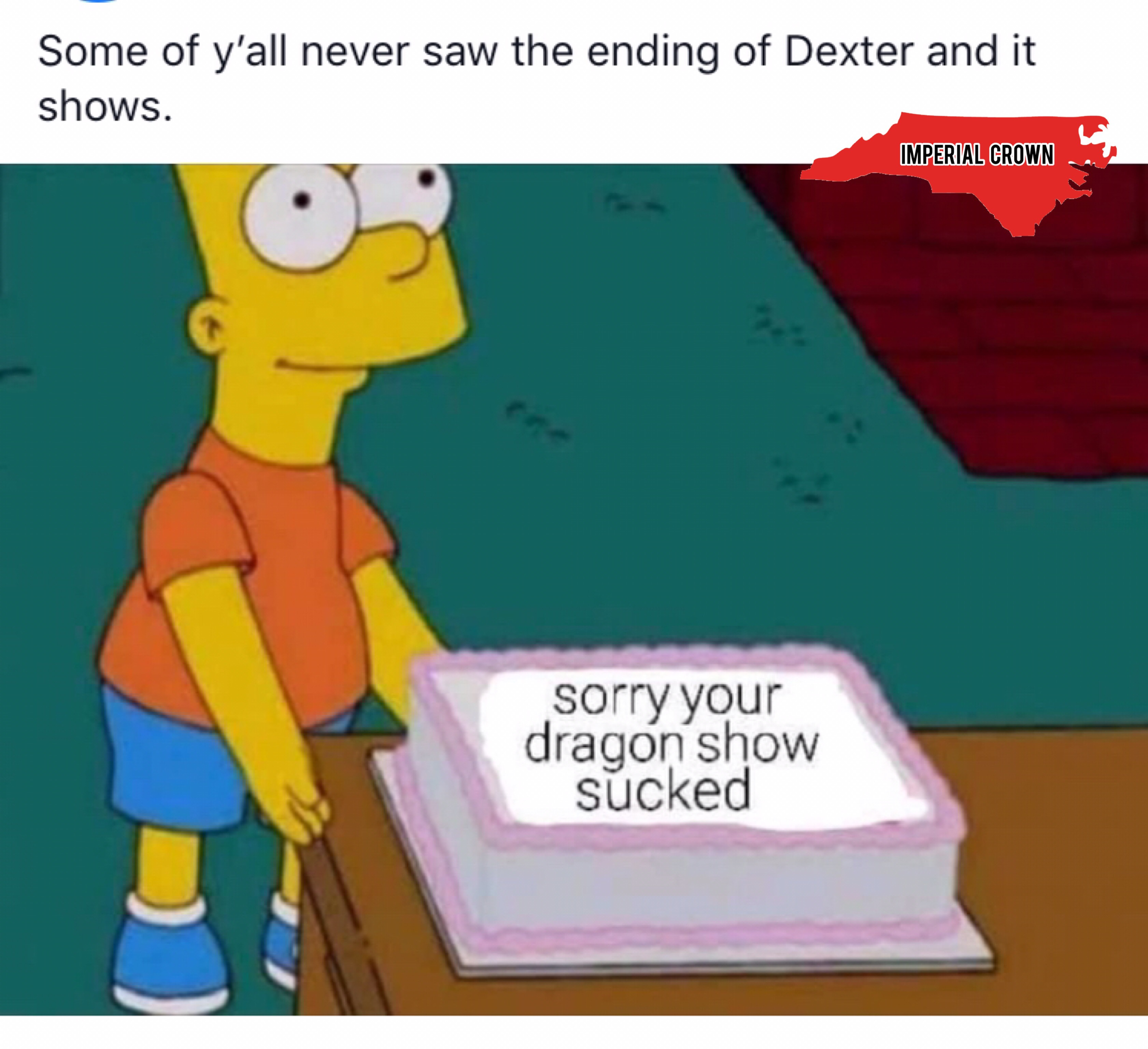 Some of y'all never saw the ending of dexter and it shows….