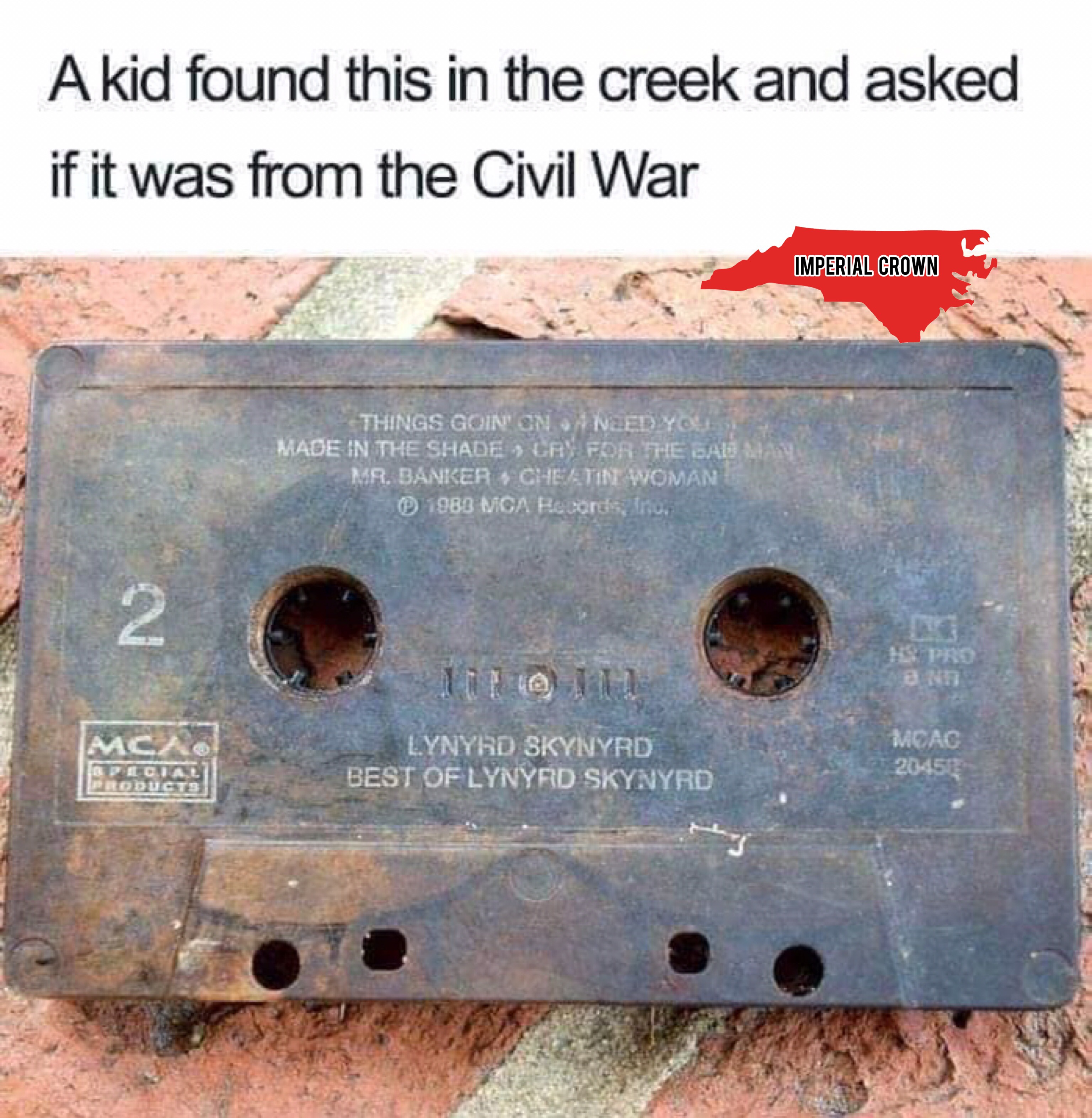 A kid found this in the creek and asked ….