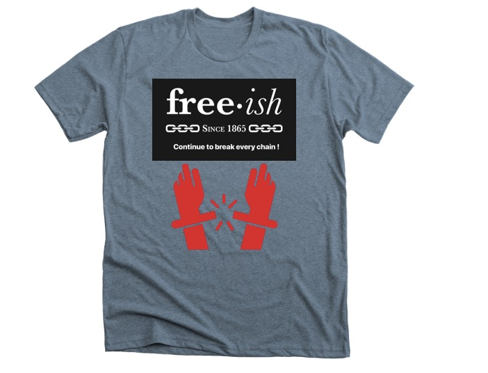 Freeish • Dark Grey • Red • Black Premium T shirt