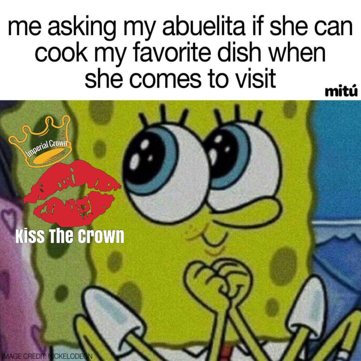Me asking my abuelita if she can cook my favorite dish when she comes to visit