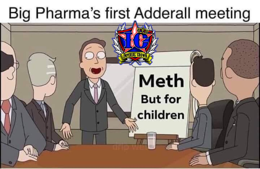 Big Pharma first Adderall meeting, Meth but for children