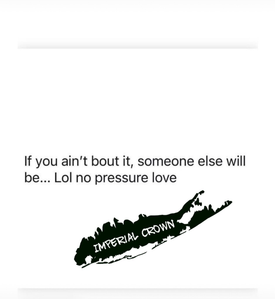 If you ain't bout it, someone else will be… Lol no pressure love