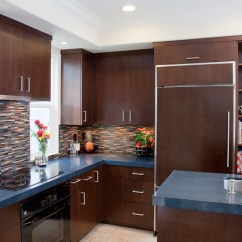 Kitchen Cabinets Crown Molding On A Budget Custom Contemporary - Alder Wood Java ...