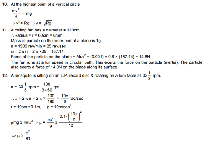 Circular Motion HC Verma Concepts of Physics Solutions