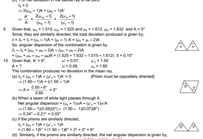 Dispersion and Spectra HC Verma Concepts of Physics Solutions
