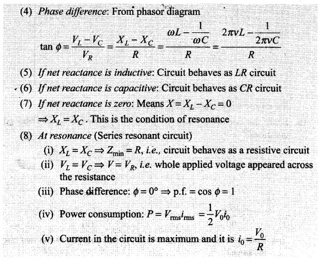Alternating Current NCERT Exemplar Problems Solutions