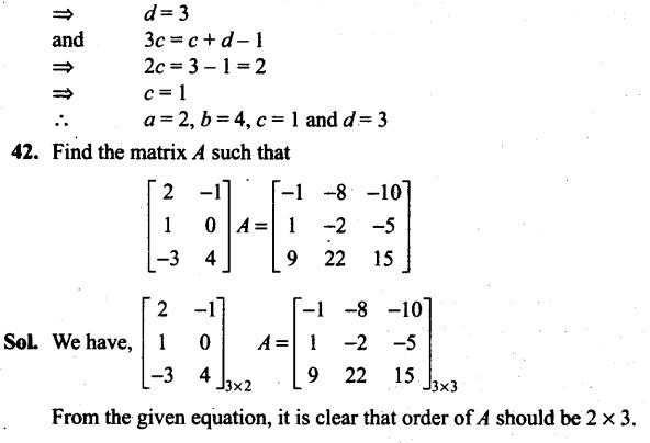 Matrices NCERT Exemplar Problems Solutions Class 12th