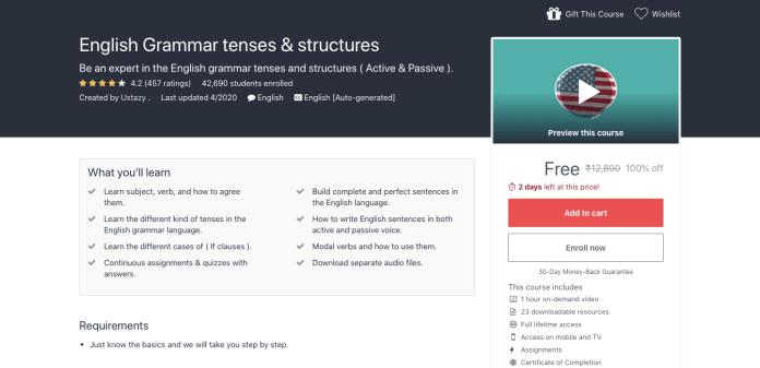 English Grammar tenses & structures