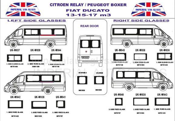 Ducato Relay Boxer Mwb Lwb Imperial Van Glass