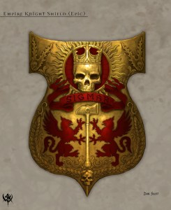 Ornate Empire Knightly Shield