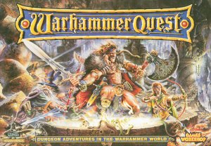 Picture of the front of the Warhammer Quest game box