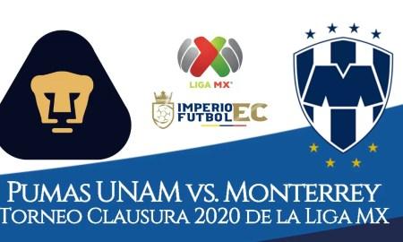 VER AQUÍ Pumas UNAM y Monterrey desde las 13H00 EN VIVO ONLINE