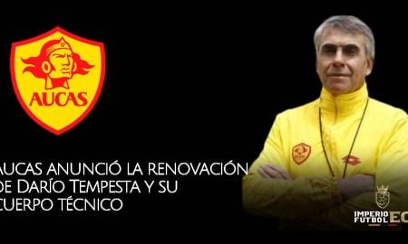 Aucas anunció la renovación de Darío Tempesta y su cuerpo técnico