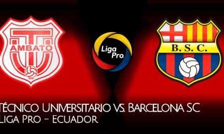 BARCELONA SC vs Técnico Universitario EN VIVO por GOL TV, partido