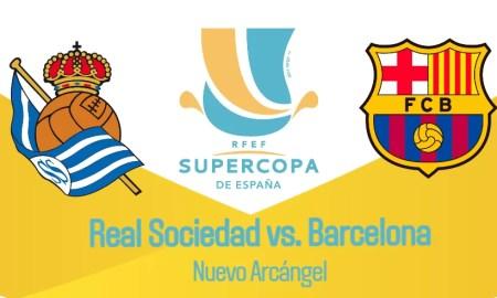 Barcelona vs Real Sociedad EN VIVO Directv Sports canales TV por la semifinal de Supercopa de España