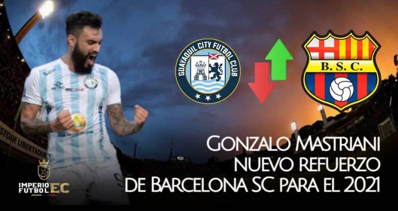 Gonzalo Mastriani nuevo jugador de Barcelona SC para el 2021