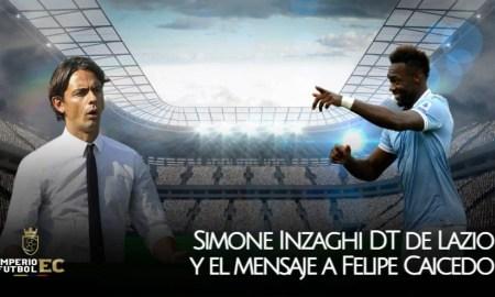 Simone Inzaghi DT de Lazio y el mensaje a Felipe Caicedo
