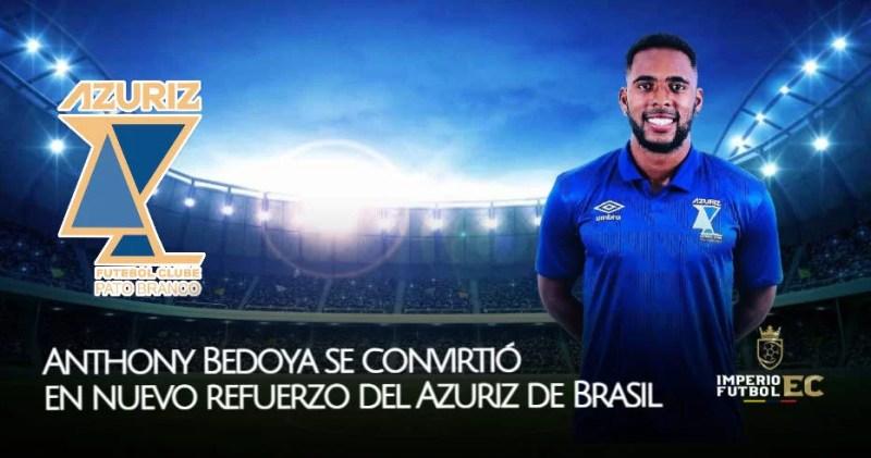 Anthony Bedoya se convirtió en nuevo refuerzo del Azuriz de Brasil