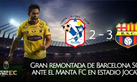 Gran remontada de Barcelona SC ante el Manta FC