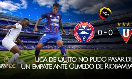 Liga de Quito no pudo pasar de un empate ante Olmedo