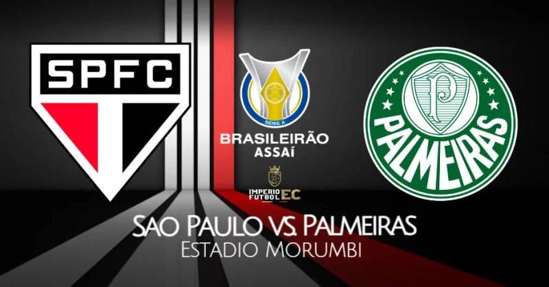 Sao Paulo vs Palmeiras EN VIVO ONLINE donde ver Brasileirao