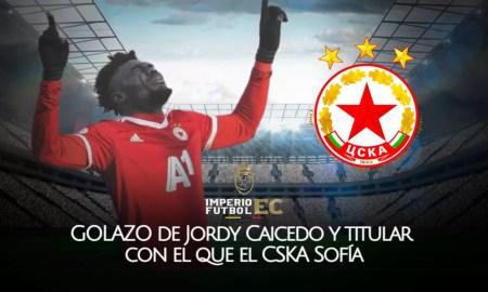 GOLAZO de Jordy Caicedo y titular con el que el CSKA Sofía