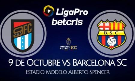 9 de Octubre - Barcelona SC EN VIVO por la fecha 12 de la Liga Pro Serie A 2021