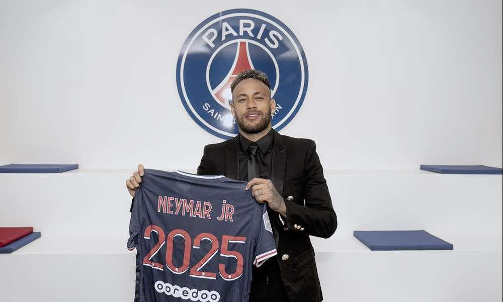 PSG dio a conocer la renovación del contrato de Neymar Jr