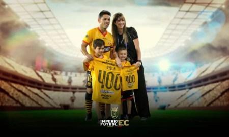 Barcelona SC rindió tributo a Matías Oyola por sus 400 partidos con la amarilla