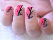 funky and trendy nail art design