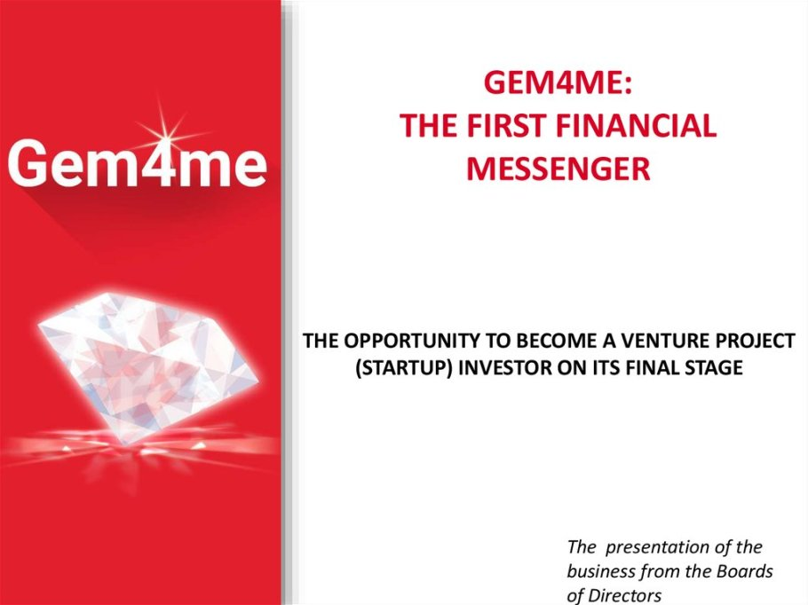 Gem4me, the first financial messenger