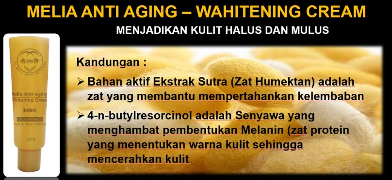 Manfaat Melia Anti Aging Whitening Cream