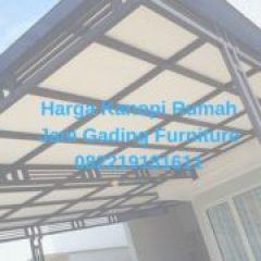 Harga Kanopi Baja Ringan Atap Spandek Jani Gading Furniture