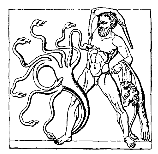 Heracles fighting the Hydra
